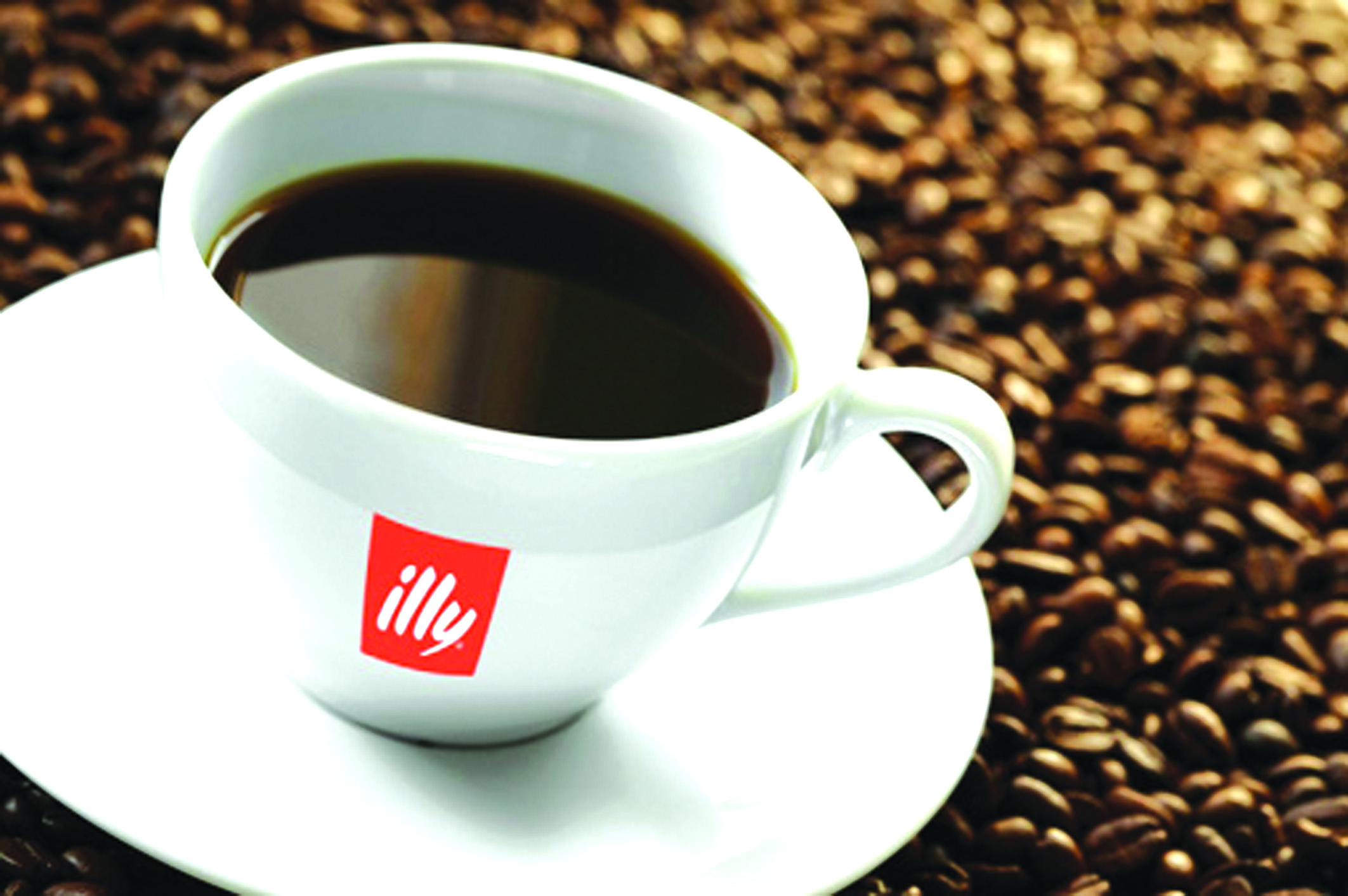 illy coffee in a cup